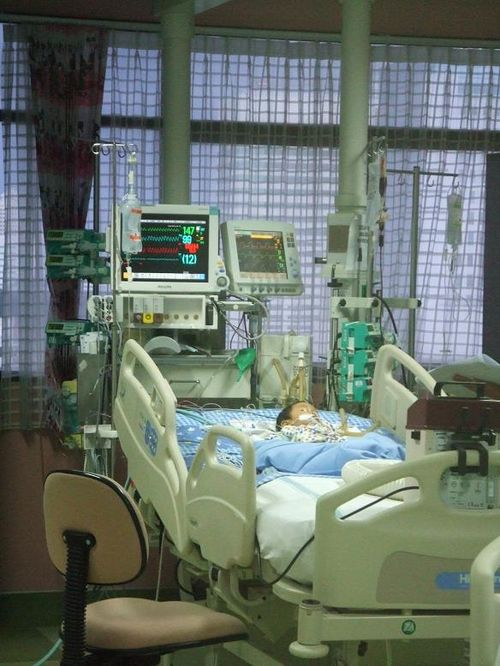 In the ICU room